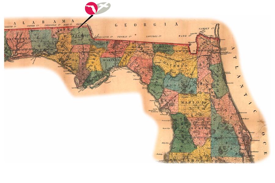 Vintage-FL-Map